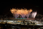 Fireworks explode above the Maracana stadium during the rehearsal of the opening ceremony of the Olympic Games in Rio de Janeiro, Brazil. Photo / AP/Felipe Dana