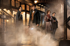 Katherine Waterston, Eddie Redmayne, Alison Sudol and Dan Folger in a scene from Fantastic Beasts and Where to Find Them. Photo / AP