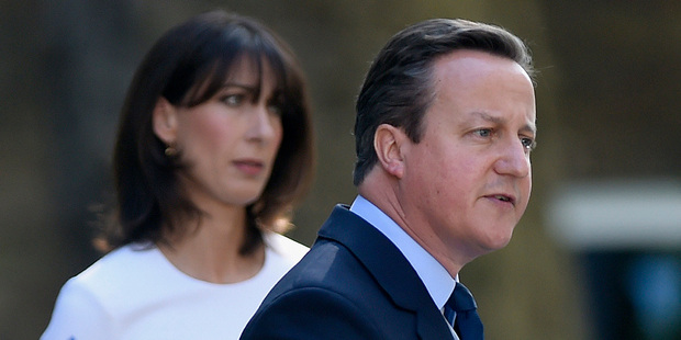 David Cameron gave his wife Samantha's stylist an OBE for political and public services. Photo / AP