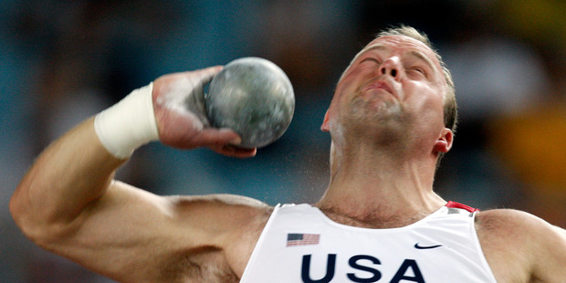 Former Olympic shot put champion Adam Nelson tried unsuccessfully to unionise United States athletes. Photo / AP