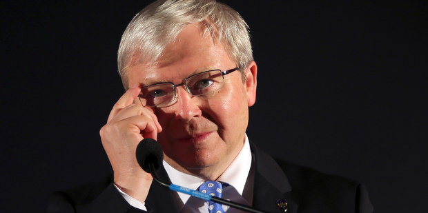 Former Australian Prime Minister Kevin Rudd didn't deserve to be supported in his bid for UN Secretary General says MP Tim Wilson. Photo / AP
