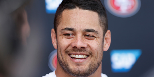 Jarryd Hayne during his time with the San Francisco 49ers. Photo / AP