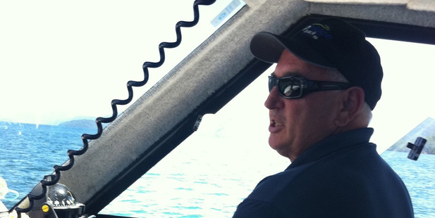 Kerry Blair from Marlborough on board his boat Erie. Photo / Supplied