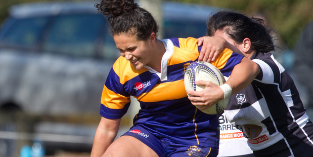 IN POSSESSION: Bay of Plenty Volcanix player Hana Tapiata against Hawke's Bay during the national women's rugby competition at Ngongotaha Domain last year. A_050915sp2