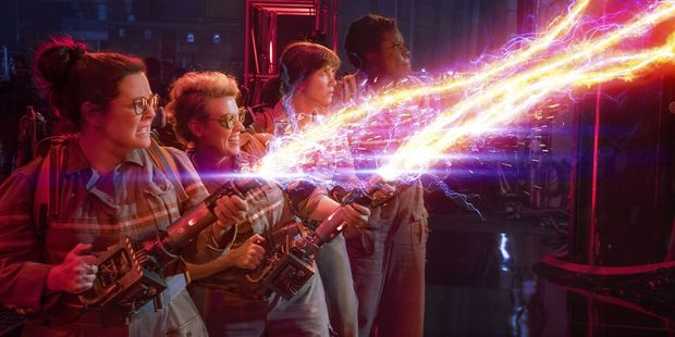 A scene from the recent Ghostbusters movie.