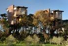 Tree houses at Hapuku Lodge in Kaikoura.