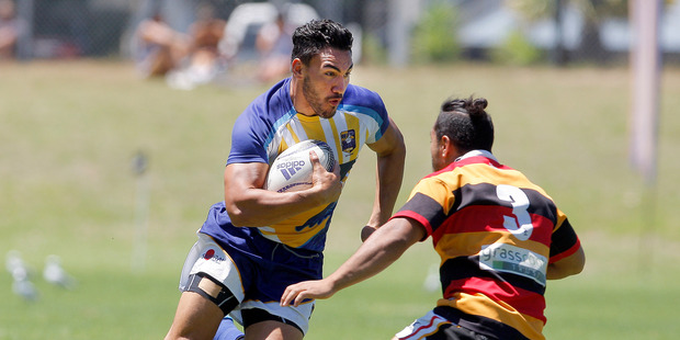 Teddy Stanaway playing for the Bay Engineers Rugby Sevens BOP against Waikato. Photo/File