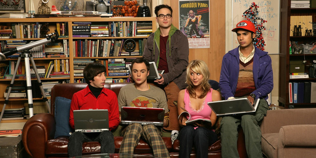 A scene from the TV show The Big Bang Theory.