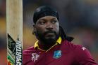 West Indies batsman Chris Gayle. Photo / Mark Mitchell