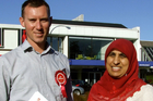Jamie Strange and Labour Party list candidate Anjum Rahman on the campaign trail in Taupo in 2014. PHOTO/ NZME