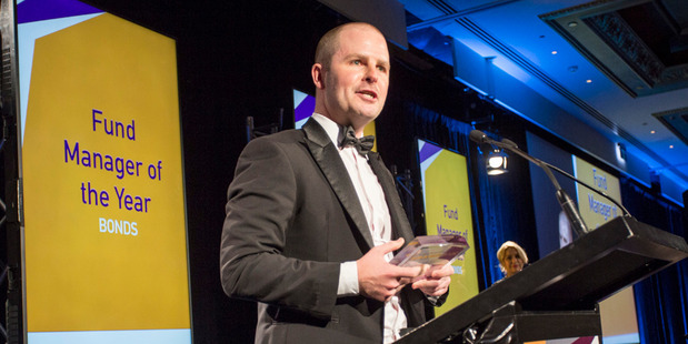 David McLeish of Fisher Funds Management at the 2016 Infinz Awards. Photo / Supplied