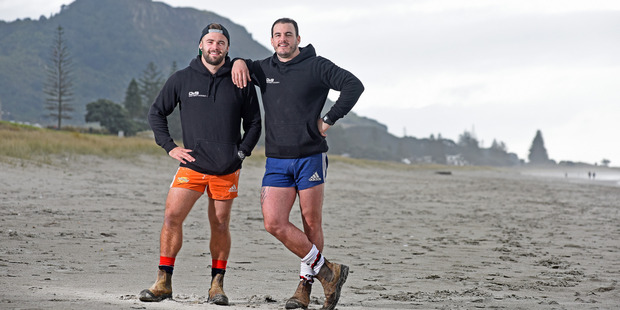Dylan Guitink, left, and Dylan Cossey of The Block NZ DIY TV show. Photo/George Novak