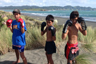 Tainui, Tokomaru and Aotea Taylor, 13, were picked to represent New Zealand at the Youth World Muay Thai Champs later this month. Photo / Supplied