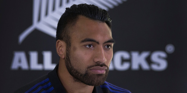 New Zealand All Blacks loose forward Victor Vito, during the press conference at their hotel Pennyhill Park, Bagshot, Surrey, London, in lead up to the Rugby World Cup Final. Photo / Brett Phibbs.