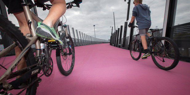 More cycleways are planned throughout central Auckland to cater for a growing number of cyclists. Photo: Nick Reed