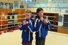 Callum Shanks (left), 14, and Tyler Kopua, 15, from Waipukurau who picked up silver and gold medals at the national boxing championships in Rotorua. CHB Mail photograph.