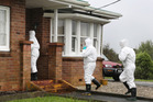 Police and ESR staff at the scene of a methamphetamine lab raid on Taipuha Road, south west of Whangarei. Photo / John Stone