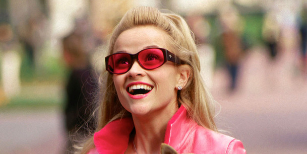 Actress Reese Witherspoon in a scene from her Golden Globe nominated film, Legally Blonde.