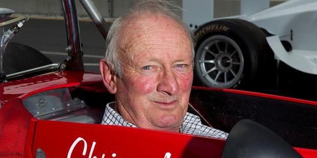 New Zealand motorsport legend, Chris Amon in 2010. Photo / David Rowland