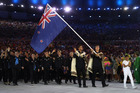 Peter Burling carries the flag during the Opening Ceremony of the Rio 2016 Olympic Games. Photo / Getty Images