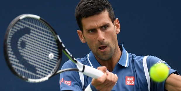Novak Djokovic during the men's final of the Rogers Cup tennis tournament. Photo / AP
