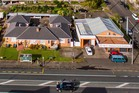 Aerial view of the high profile corner sites for sale in Dominion Rd.