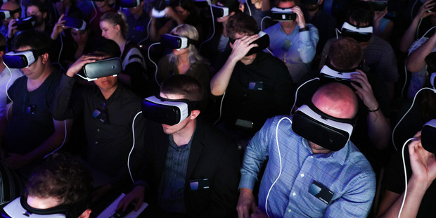 Samsung has turned to VR technology amid a slowdown in high-end smartphone growth. Photo / Chris Ratcliffe