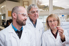 Victoria University Ferrier Research Institute's (L-R) Dr Olga Zubkova, Professor Peter Tyler and Dr Ralf Schworer, are helping develop a new treatment for Alzheimer's disease. Photo / Supplied