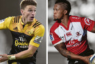 Beauden Barrett and Elton Jantjies go head to head in tomorrow's Super Rugby final.