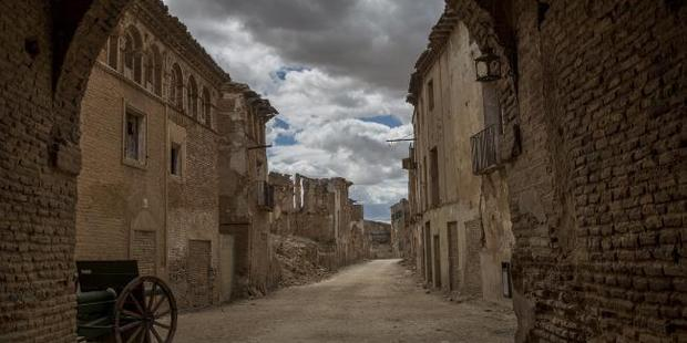 The water supply to Belchite was cut during the war, those trapped inside starved or were shelled from the hills. Photo / Ella Pellegrini, News Corp Australia