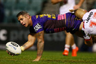 Corey Parker of the Broncos offloads during the round 22 NRL match between the St George Illawarra Dragons and the Brisbane Broncos. Photo /Getty