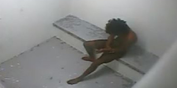 One of the boys, pictured age 14 in a juvenile solitary cell. Photo / ABC