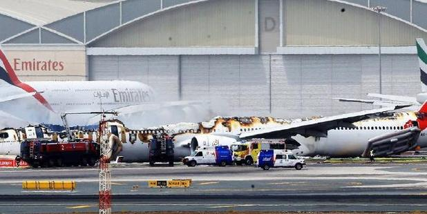 Loading The plane was destroyed after it burst into flame on crash landing. Photo / Twitter