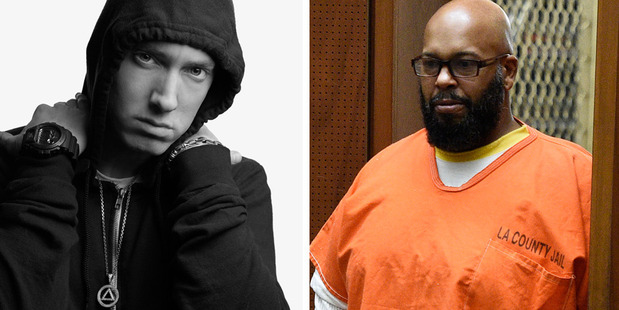 Eminem's bodyguard claims Suge Knight had Em on his hit list. Photos / Supplied, SplashNews.