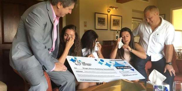 The Davies family from Monmouth are to share the EuroMillions jackpot. Photo / Facebook
