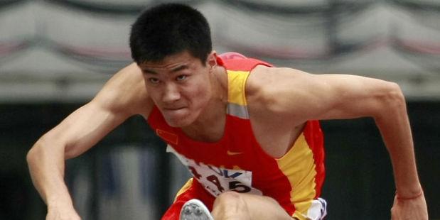 Chinese hurdler Shi Dongpeng. Photo / AP