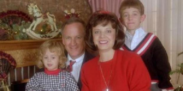 Burke Ramsey, right, with JonBenet, and parents John and Patricia. Photo / Supplied