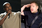 This could be an epic Carpool Karaoke...if Kanye would turn up. Photos / AP, Youtube