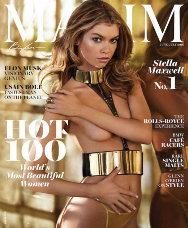 The Kiwi model graces the cover of the latest issue of Maxim magazine. Photo / Instagram/stellamaxwell