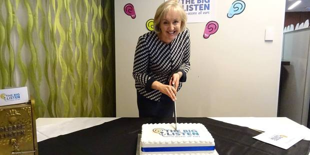 Broadcasting Minister Amy Adams launched the The Big Listen yesterday and talked about the importance of access radio locally. Photo / The Big Listen Facebook