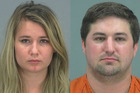 Brent (right) and Brianne (left) Daley, of San Tan Valley, Arizona, were arrested and charged with child endangerment. Photo / Supplied