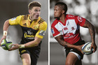 Beauden Barret and Elton Jantjies go head to head in tomorrow's Super Rugby final.