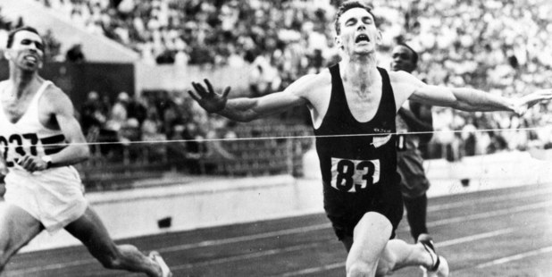 New Zealand runner Peter Snell winning gold at the Rome Olympics in the 800m.