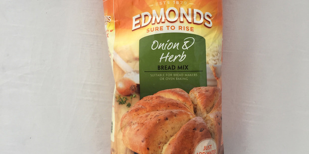 Edmonds Onion and Herb Bread Mix. $7.49 for 1.25kg. Photo / Supplied