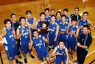 HAPPINESS IS: NBHS senior A basketballers after winning the Super 8 tourney this week. PHOTO/Paul Taylor