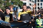 The Hurricanes have their victory parade in Wellington today following their Super Rugby final win over the Lions on Saturday.