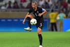 Abby Erceg have New Zealand who was red carded this morning in the Football Ferns match against Colombia. Photo / Getty