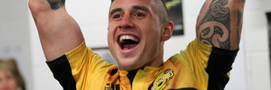 TJ Perenara celebrates after the Hurricanes win their maiden Super Rugby title on Saturday in Wellington. Photo / Photosport