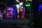 Thai emergency services on the scene of an explosion. Photo / AP