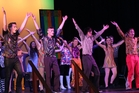 The cast of  Disco Inferno light up the Town Hall stage. Photo / Christine McKay